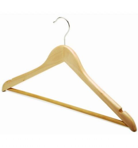 Extra Strong Large Wooden Clothes Hangers